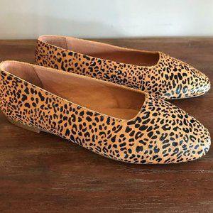 Madewell $118 Cory Flat in Leopard Calf Hair AE219